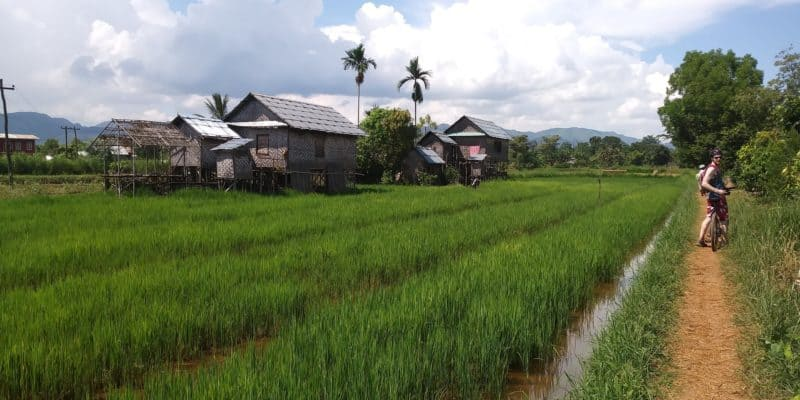 Cycling through remote villages of Inle Lake