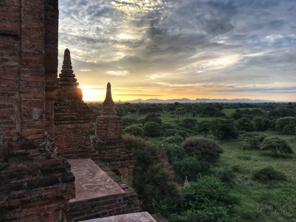 Sunrise at Temple in Bagan Myanmar