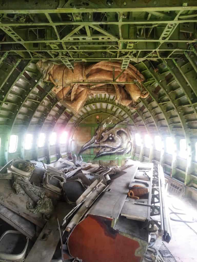 An abandoned aircraft in Bangkok, Thailand