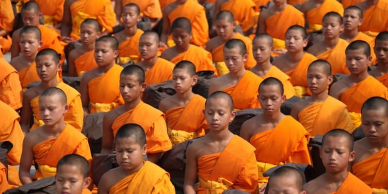 Buddhists monks Southeast Asia