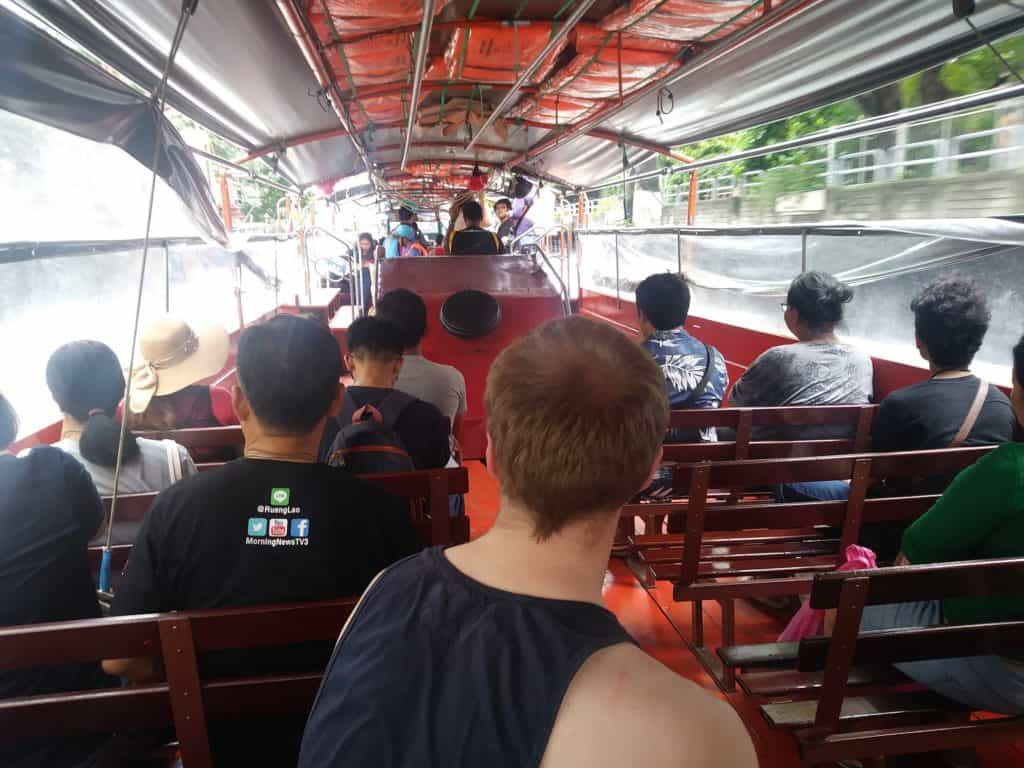 In the canal taxi