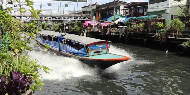 Klong Canal Taxi in Bangkok