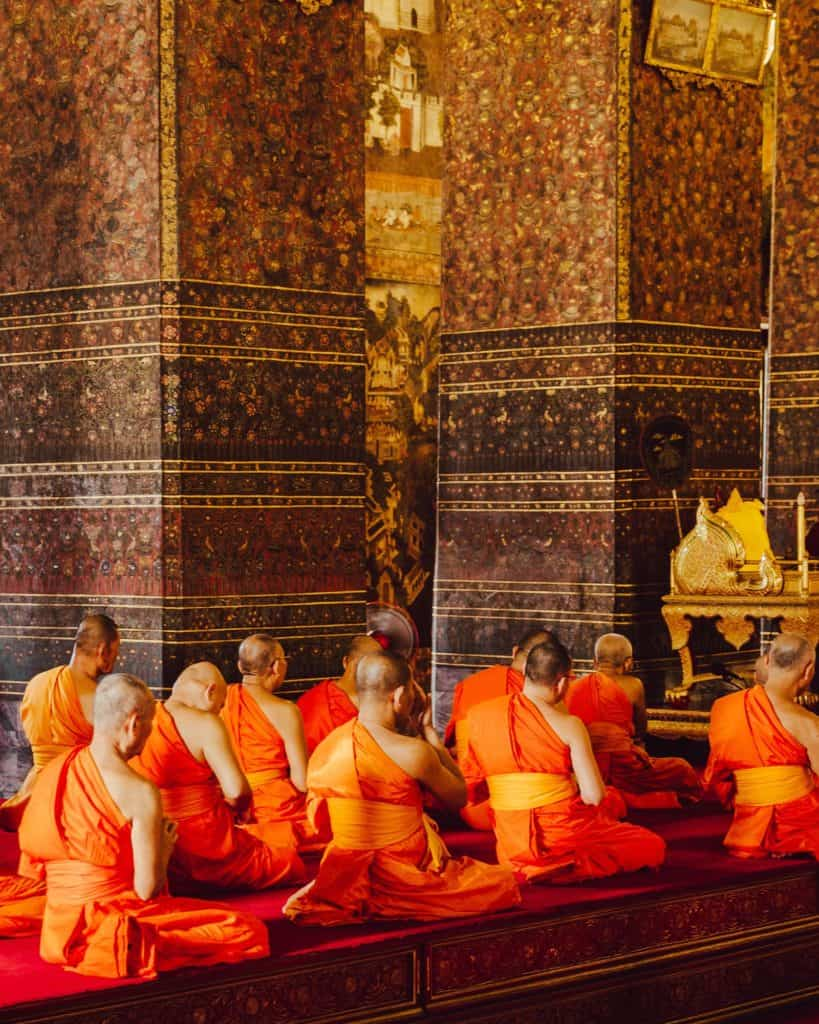 Monks in Southeast Asia
