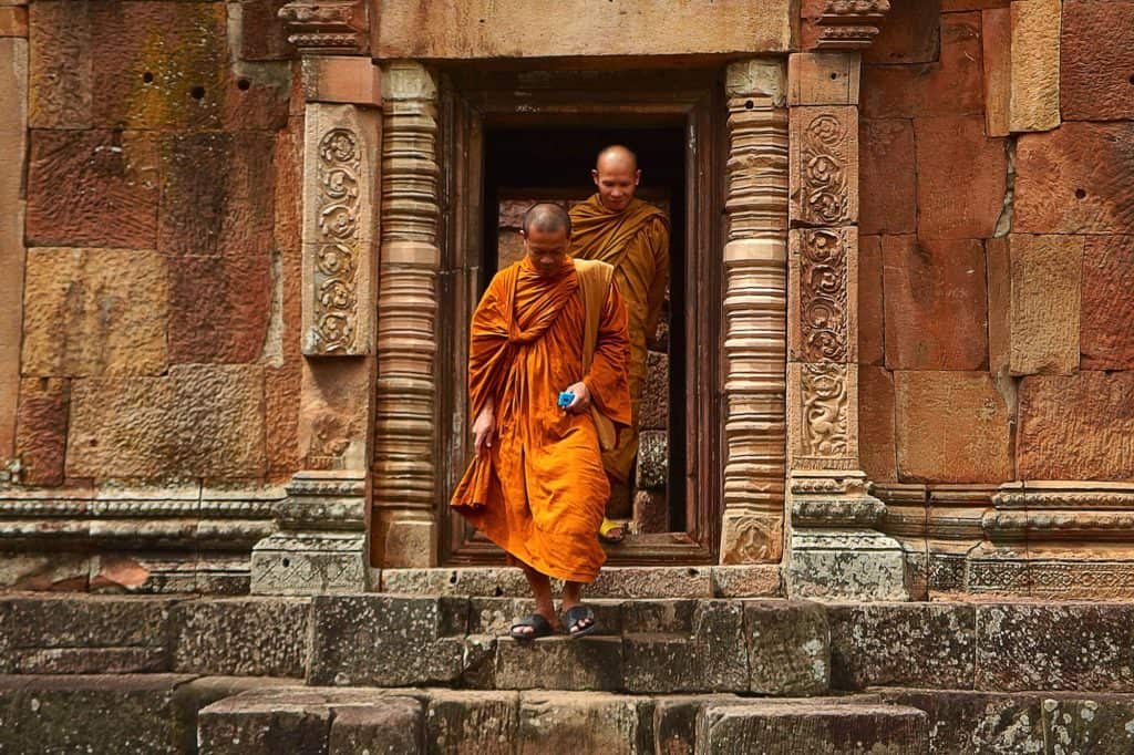 Two monks in a Temple