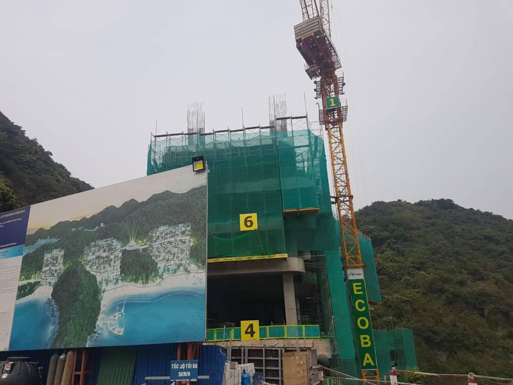 Construction Site on Cat Co Beach, Cat Ba Island, Vietnam