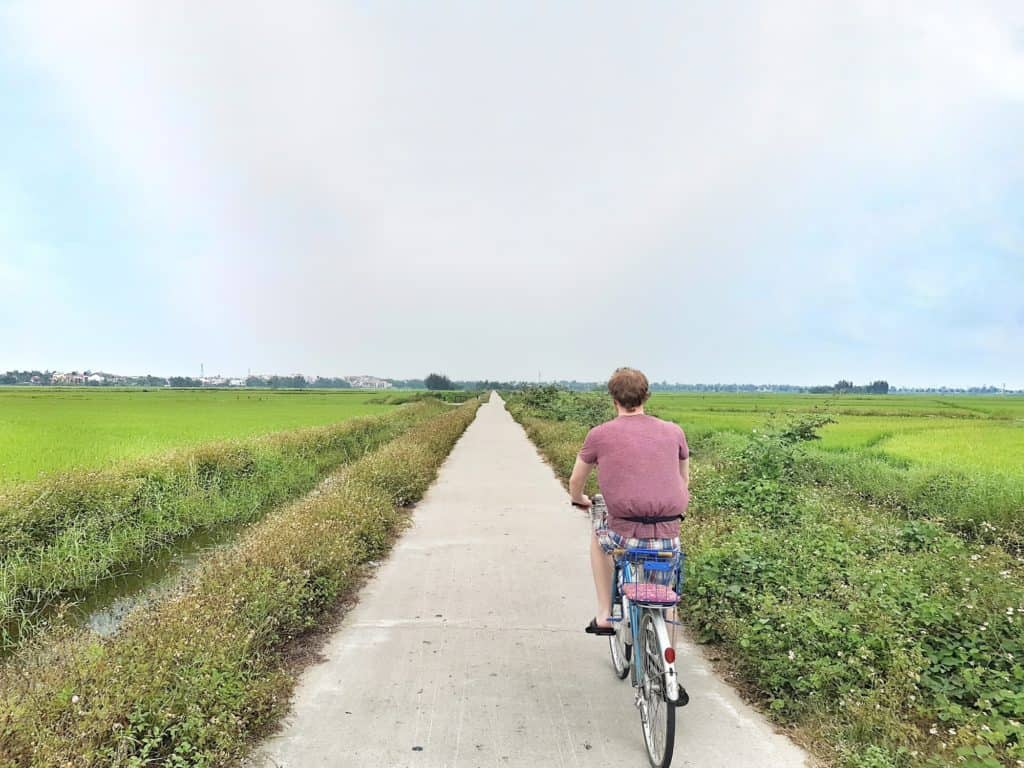Cycling through Paddy Fields Hoi An Vietnam