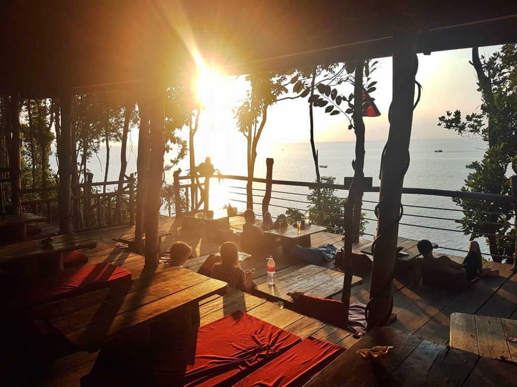 Sunset from The Cliff Hostel, M'Phai Bay, Koh Rong Sanloem