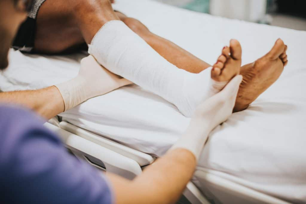 At the hospital after an accident