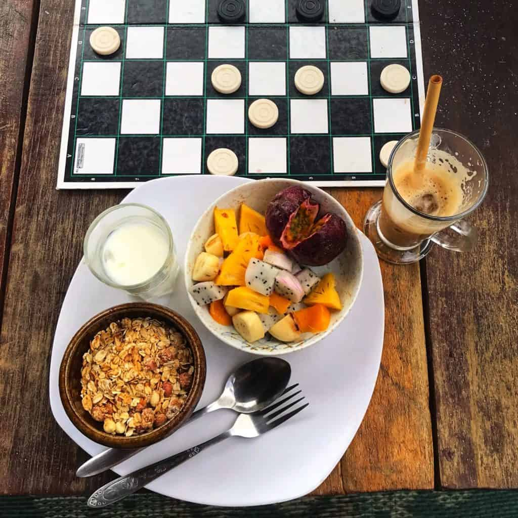 Breakfast at The Hornbill Guesthouse, Koh Rong Sanloem, Cambodia