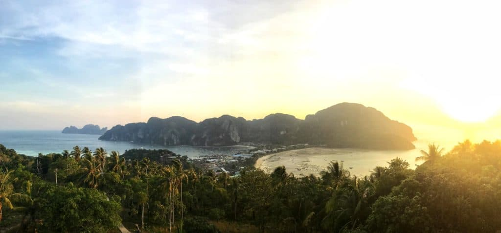 Sunset at Koh Phi Phi, Viewpoint 1