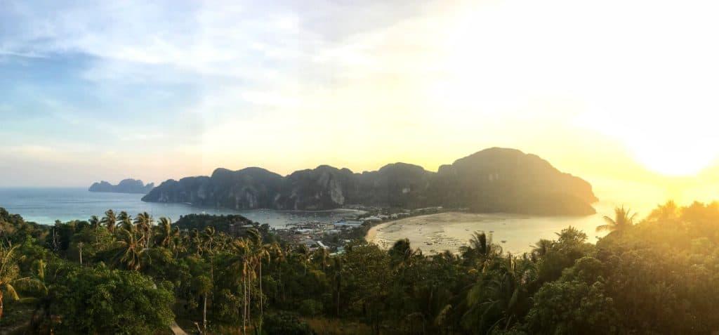 Sunset at Koh Phi Phi, Viewpoint 1