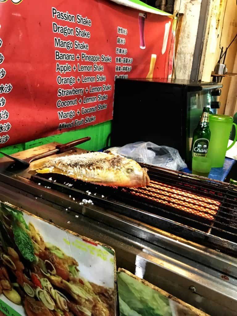 Grilled Fish at a Local Stall Restaurant, Koh Phi Phi
